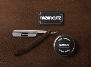 Razor Cutz Barber Logo Mockup Design