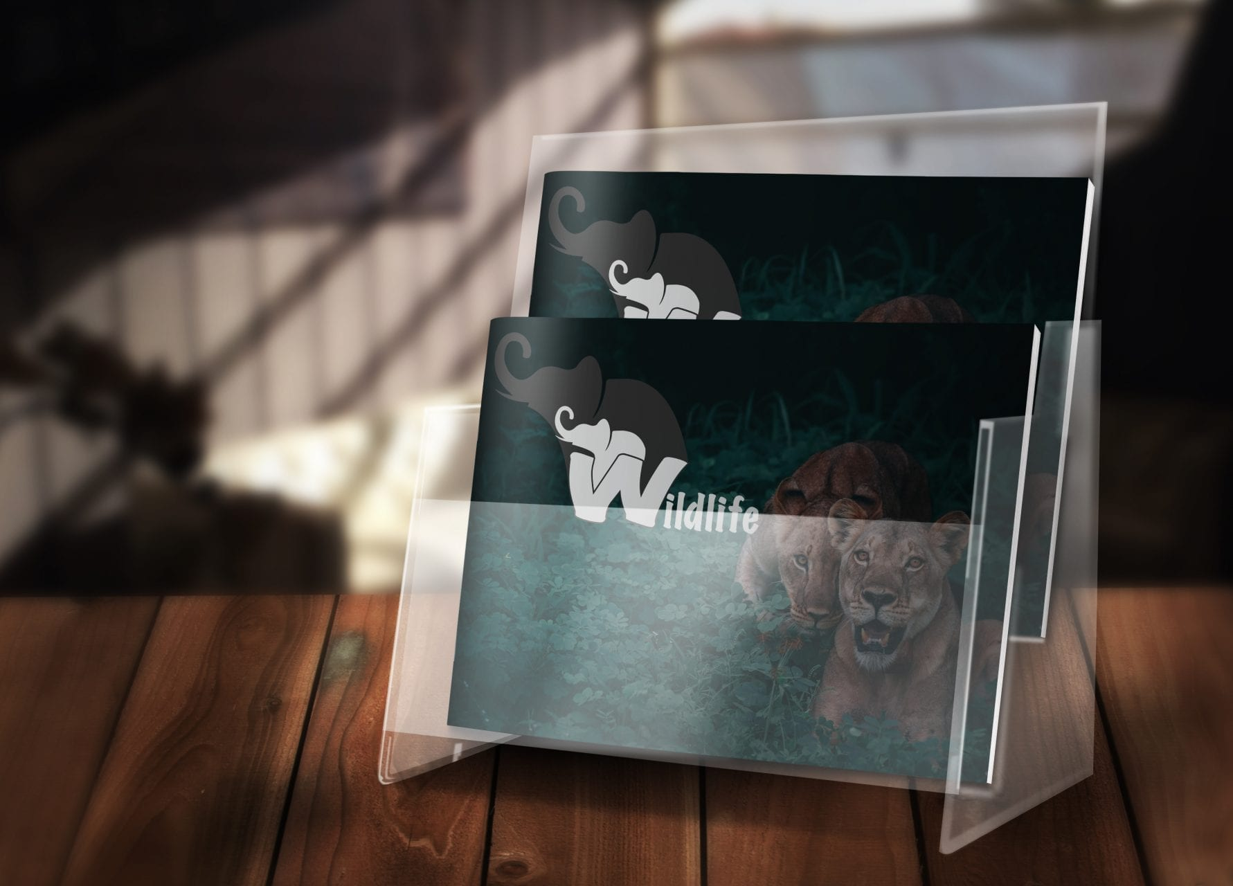 Wildlife protection booklet mockup